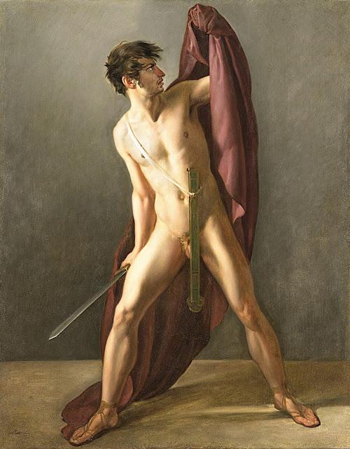 Jean-Eugène-Charles Alberti: Guerriero con la spada sguainata
