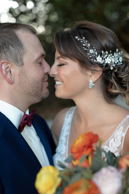 Intimate moments between bride and groom at destination wedding.