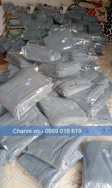 Chăn nỉ sản xuất cho LG Việt Nam màu ghi