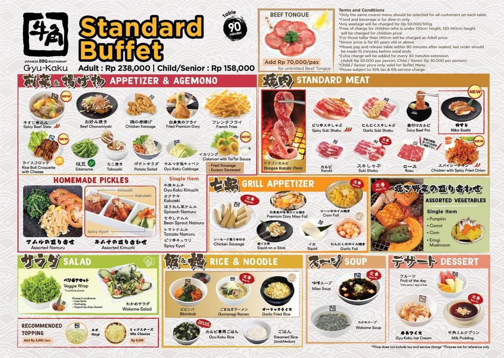 buffet standar menu gyu kaku