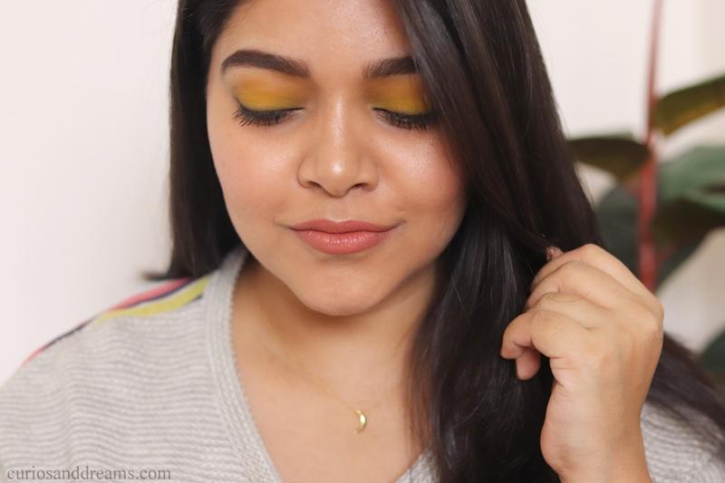 Yellow Eyeshadow look, Yellow eyeshadow look india