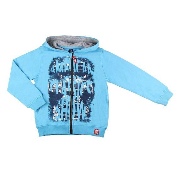 chaqueta sudadera azul primavera