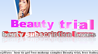 Beauty trial cosmetics trial