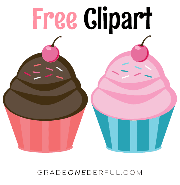 Free cupcake clipart from Grade ONEderful