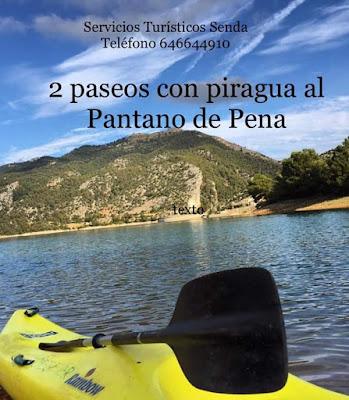 Senda, Websenda, 2 paseos con piragua, Pantano de Pena