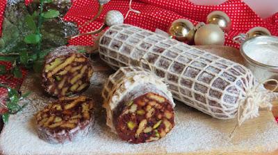 Slatka salama-čokolada, pistacio, brusnica, keksi