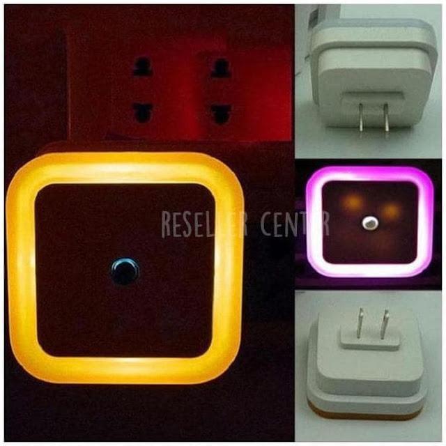 LED Sensor Cahaya EU Plug untuk Lampu Nakas