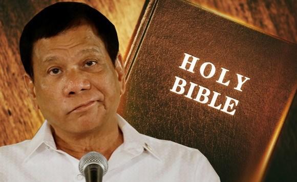 God, Bible, Duterte, Stupid God