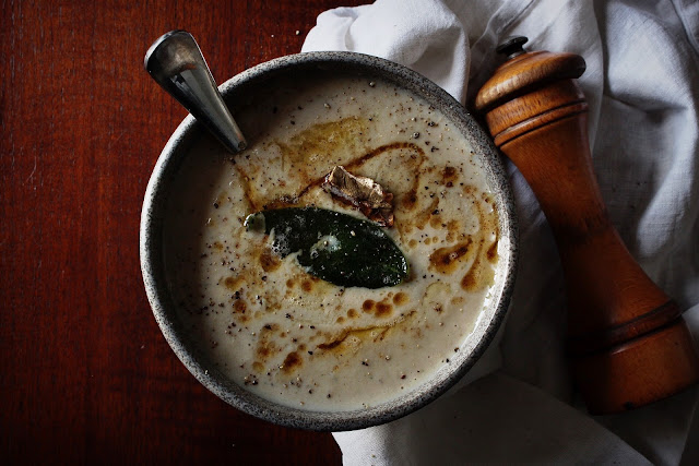 Cauliflower, Porcini Mushroom and Sage Soup