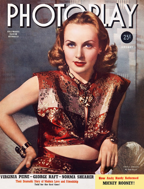 Carole Lombard on the cover of Photoplay,,January 1940 worldwartwo.filminspector.com