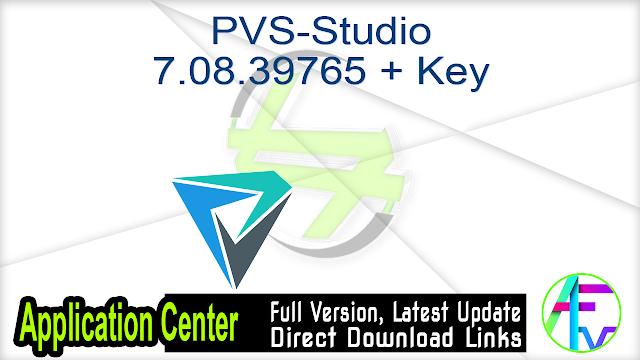 PVS-Studio 7.08.39765 + Key