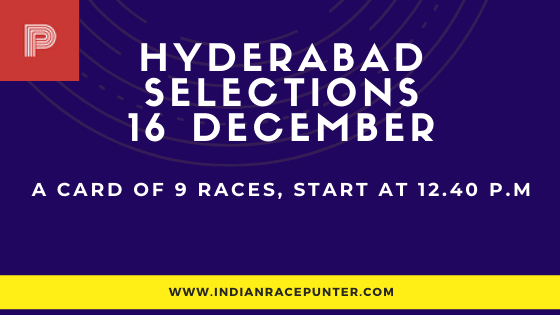 Today's  Hyderabad Race Tips and Selections