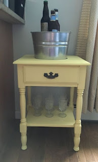 Turn An End Table Into A Drink Station