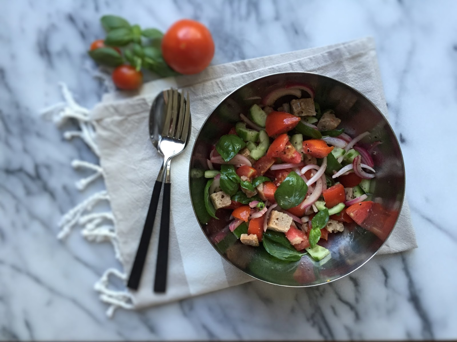 Panzanella (Tuscan bread and tomato salad)