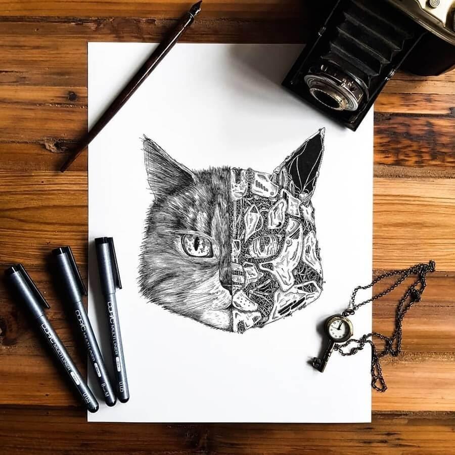 08-Surreal-cat-artymoik-www-designstack-co