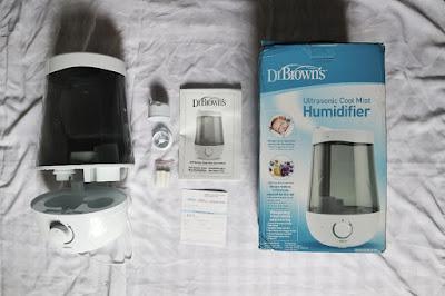 review dr browns ultrasonic cool mist humidifier pembersih udara