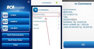 Cara beli pulsa di BCA Mobile Banking