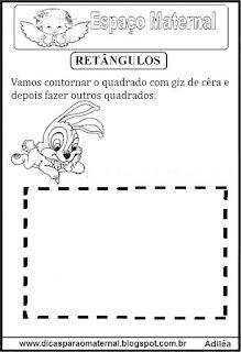 Desenho de retângulo pontilhado