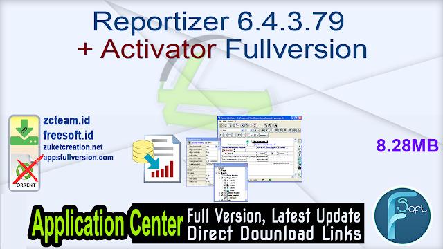 Reportizer 6.4.3.79 + Activator Fullversion