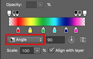 cara mengubah warna mata pelangi di photoshop