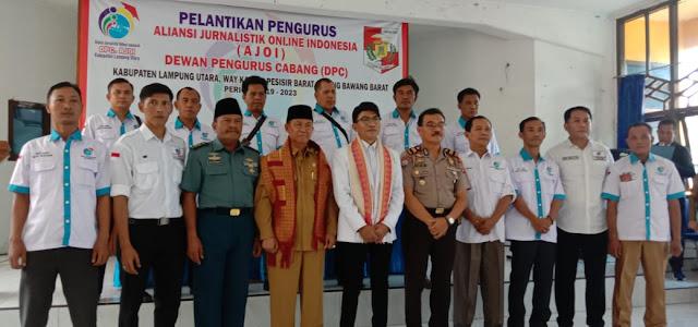 Kepengurusan AJO Indonesia Way Kanan Priode 2019 -2023 Dilantik