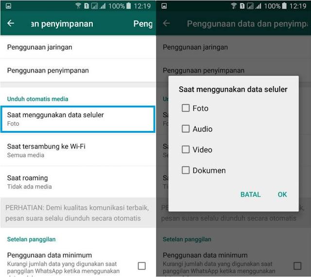 Cara Mematikan Fitur Download Otomatis di WhatsApp