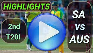 SA vs AUS 2nd T20I 2020