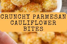 Crunchy Parmesan Cauliflower Bites