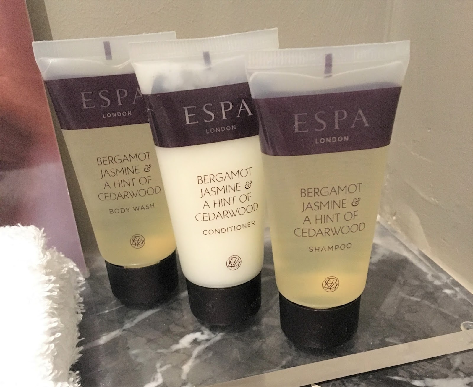 Carden Park ESPA toiletries