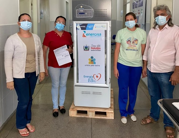 Prefeitura de Amparo recebe doação de câmara fria para armazenagem de vacinas contra a Covid-19