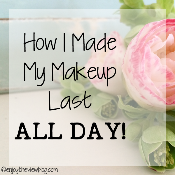 "pink flowers with a text overlay that says ""How I Made My Makeup Last All Day!"""