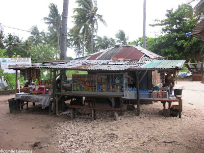Warung in Gili Air's harbor