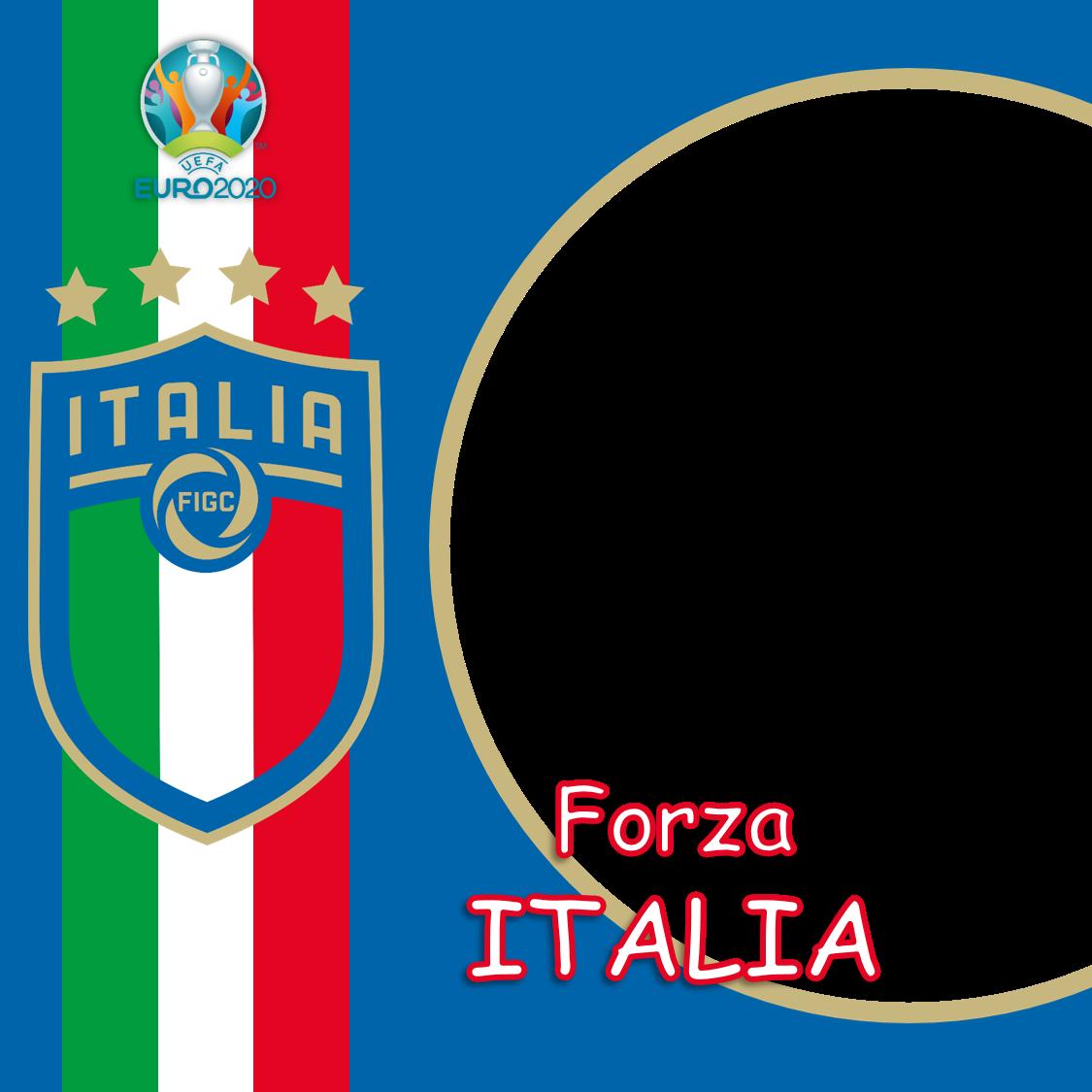 Template Desain Bingkai Foto Twibbon Italia Euro 2020 - Italy Euro 2021