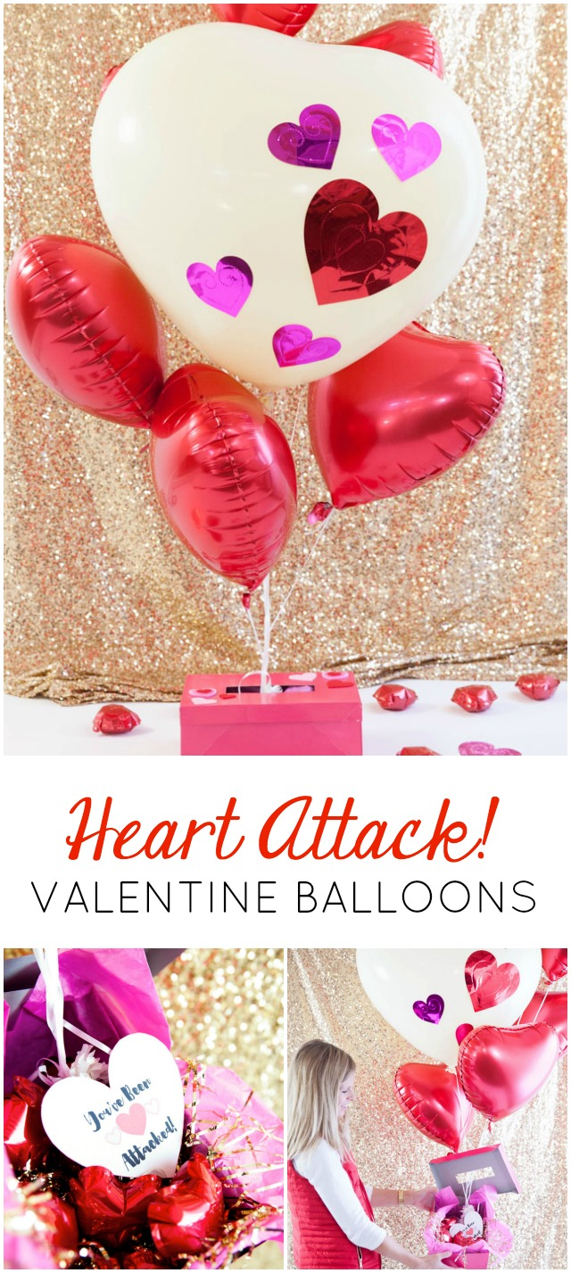 "Surprise someone special with this ""heart attack"" balloon bouquet on Valentine's Day!"