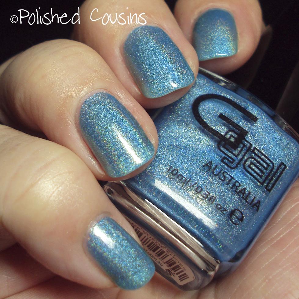 Spectrum Holographic Nail Polish: Blue Suede Shoes