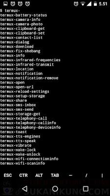 Tentang Fitur Termux-API - www.sukanikung.com