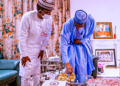 Buhari Commends Gov. Matawalle For Visiting Aso Rock With Gold And Other Precious Stones
