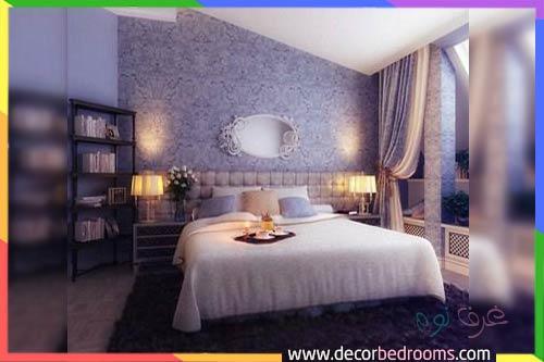 غرفة نوم بنفسجية للعرسان