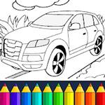 لعبة تلوين صورة السيارة