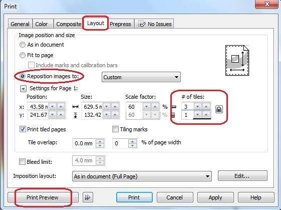 Multimedia Smkn 2 Bungo Cara Print Ukuran Lebar Di Kertas A4 Menggunakan Corel Draw