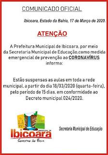Prefeitura suspende aulas