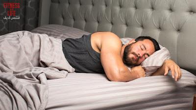 النوم و تضخيم العضلات بسرعة