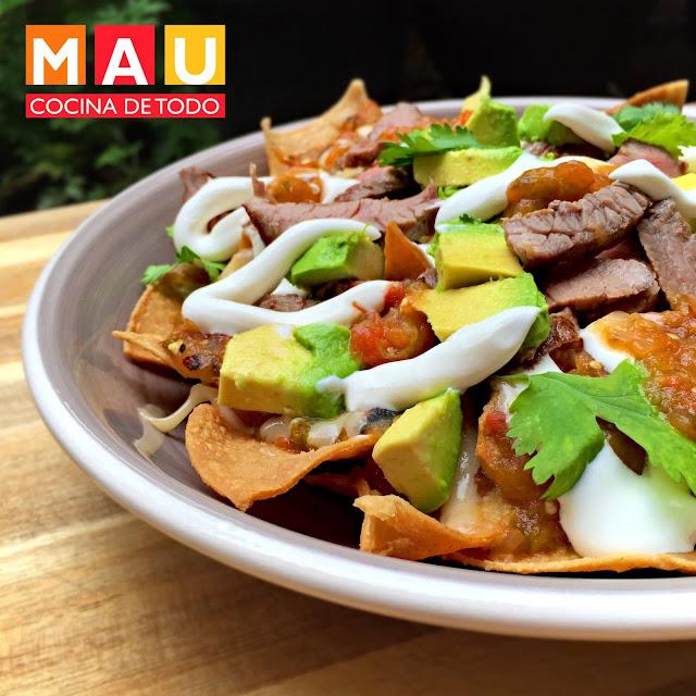 chilaquiles con carne asada arrachera deliciosos