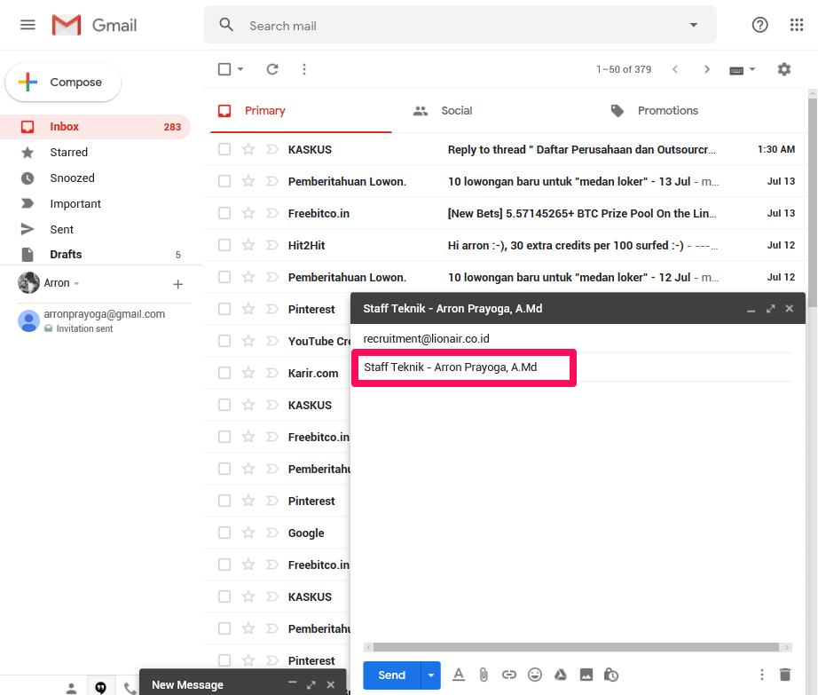 5 Cara Mengirim Lamaran Lewat Email Dengan Benar Nomis Id