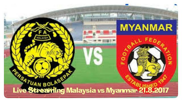 Live Streaming Malaysia vs Myanmar 21 Ogos 2017 Sukan SEA
