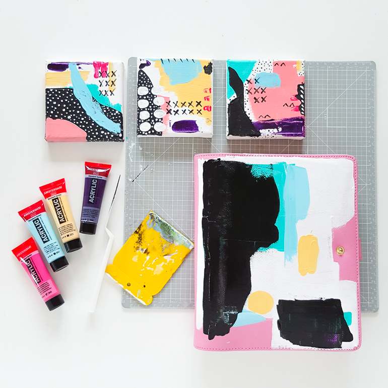 Paint your Kikki K planner mixed media style | Janna Werner