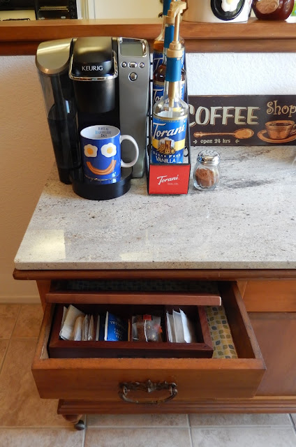 Keurig Coffee K cup Coffee Cart Kitchen Decor