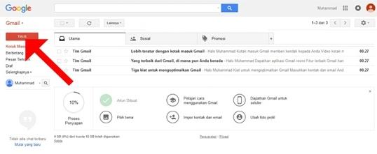 Akun Google Email Gmail Berhasil Dibuat