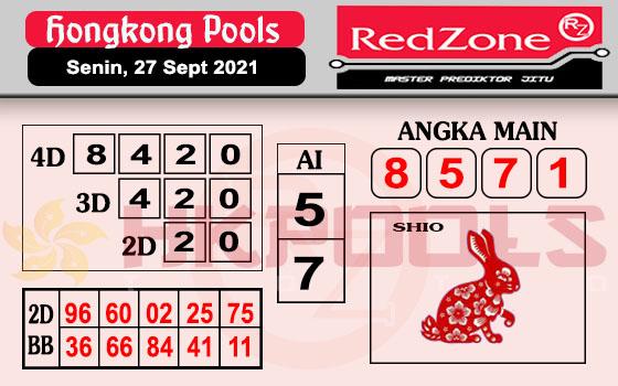 Redzone HK Senin 27 September 2021 -