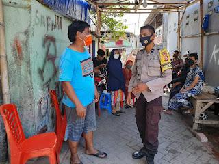 Penerapan Prokes, Bhabinkamtibmas Cambaya Lakukan Patroli Dialogis